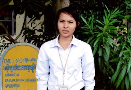 チア・ダリン。コーントライ中学校の卒業生で,石原基金の奨学生