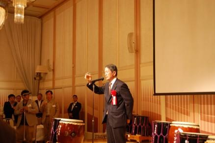 乾杯!国際連合協会福岡県本部 事務局長 萩尾 鵬二郎氏