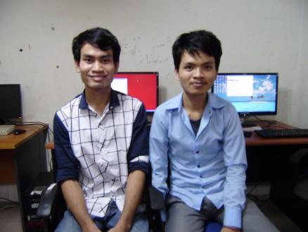 第6回放送(2月2日) ロン・チャンティ(23才)&スレーン・ハイ(25才) / CMCパソコン事業スタッフ / 今年の10月末から12月末にかけてプノンペンのダイロクにてパソコン訓練を受け,2014年1月よりCMC事務所でパソコン業務を開始する。