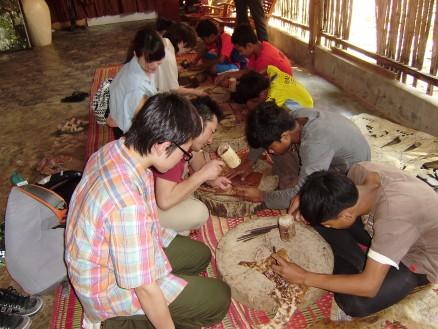 参加者の皆さんも子どもたちとの創作活動を体験できました。